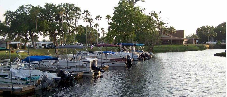 55+ Mobile Home Park Marina in New Port Richey