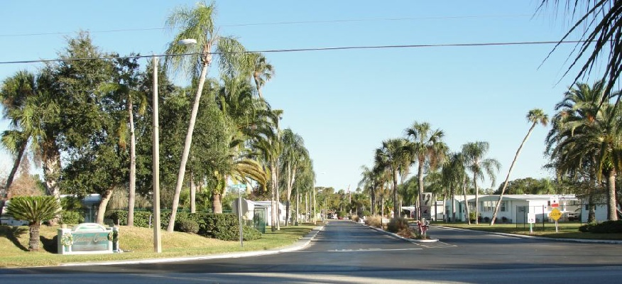 55+ Mobile Home Park - New Port Richey entrance
